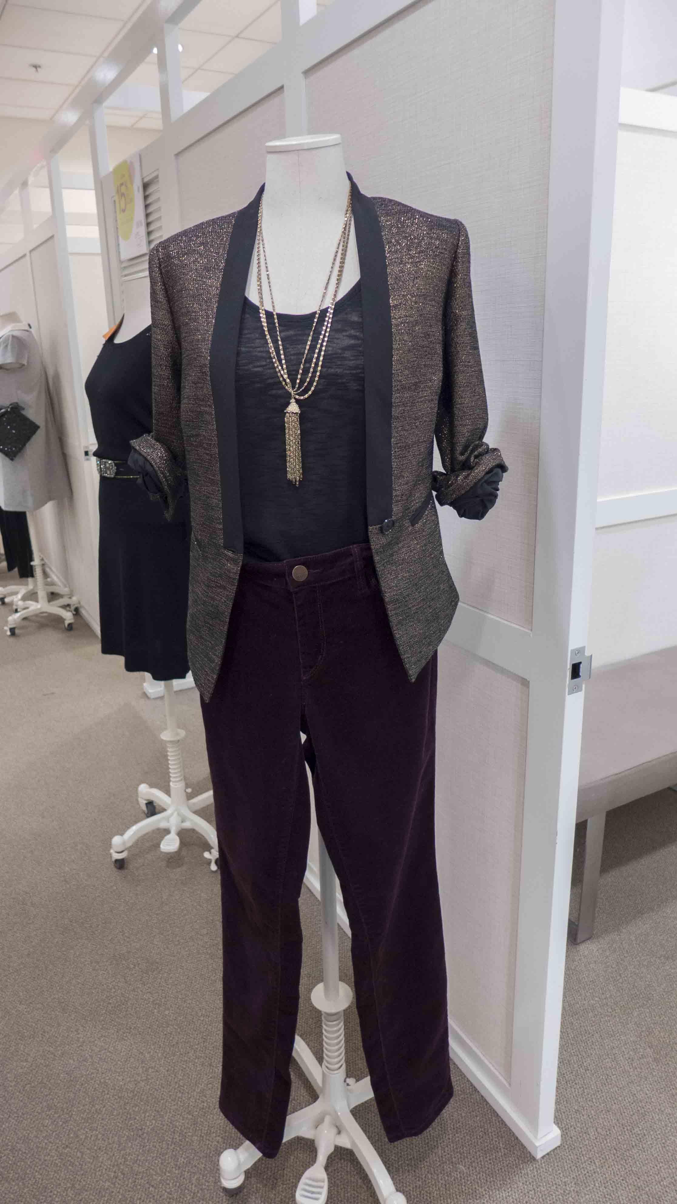 Loft Gold Tweed Tuxedo Blazer_straight curdory