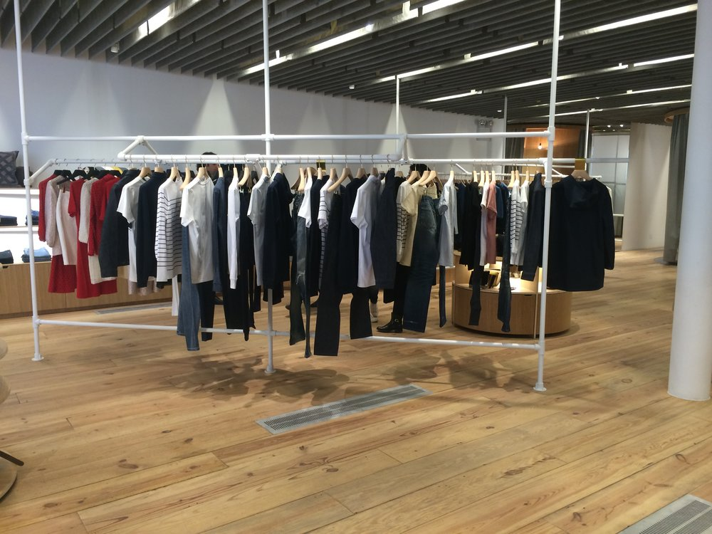 Steph introduced me to  A.P.C . I love the simplicity of the pieces. I could definitely wear everything in the store.