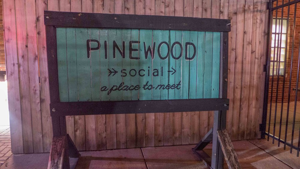 We kicked off Friday night with dinner at  Pinewood Social . The MOH booked us a private room and customized the menu for this special occasion.