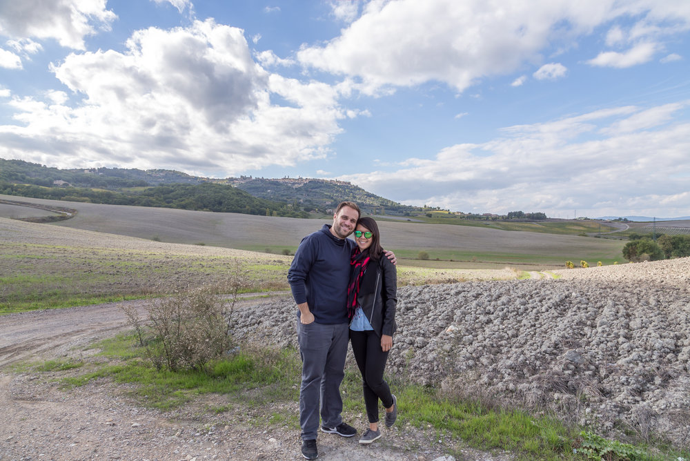 Here we are, somewhere between Montalcino and San Quirco. San Quirco was our home base for a few nights, with day trips to nearby towns.