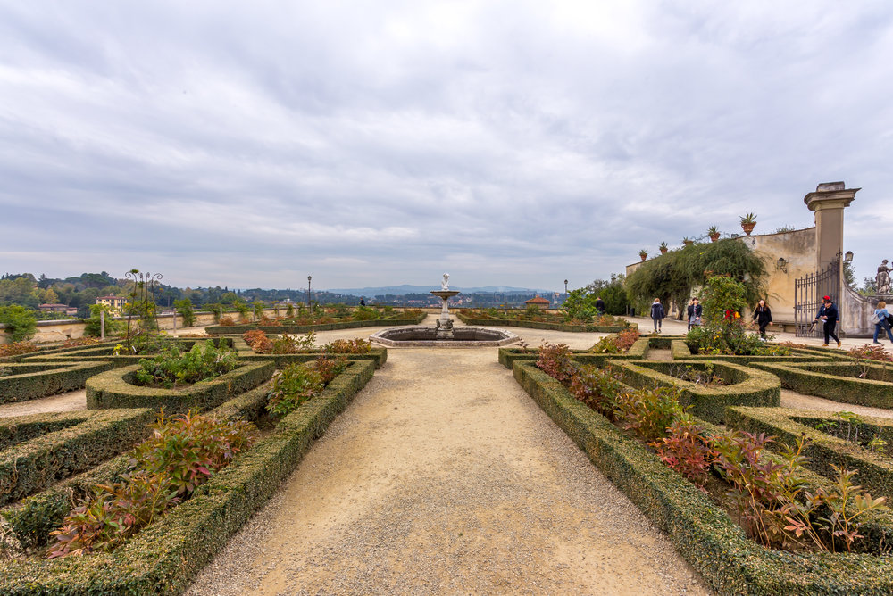 On our last day in Florence, we visited the Boboli Gardens. Although not in full bloom, it sure was still a pretty site.