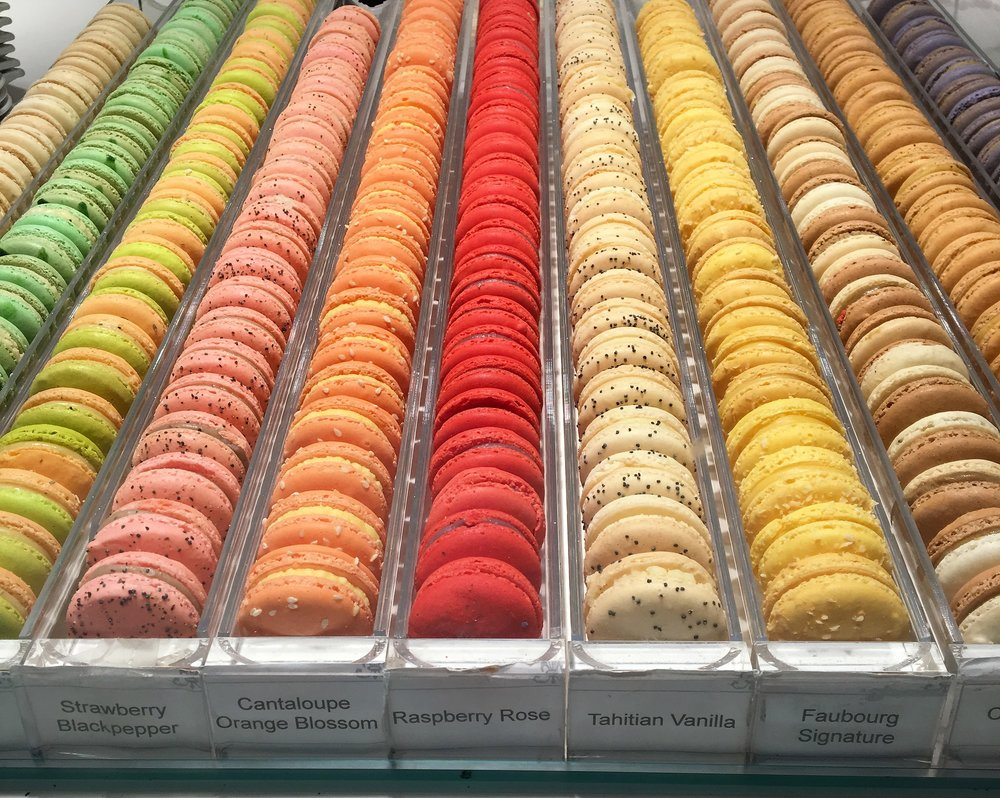 Macarons, of course! Lucky for me,  Faubourg  was just around the corner from our hotel.
