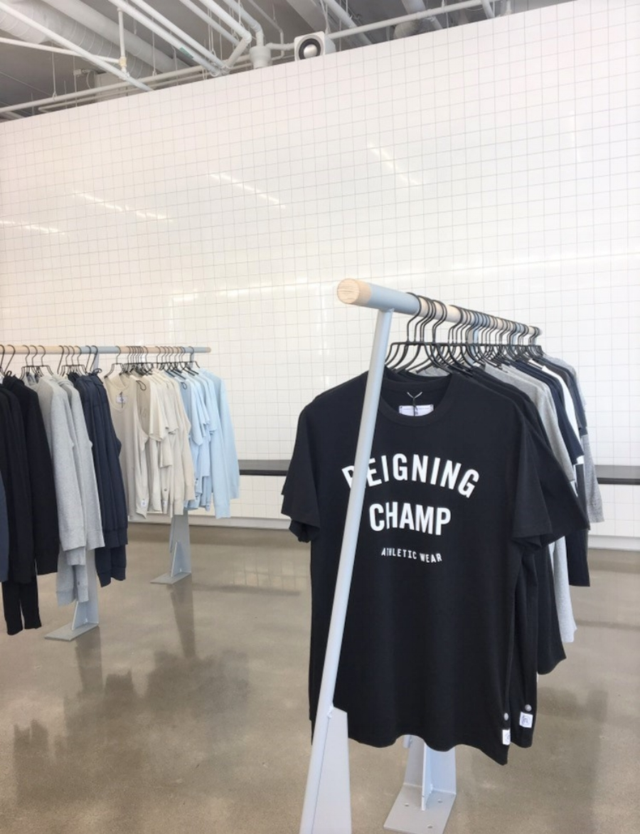 Whenever we travel, we always love seeking out local brands.  Reigning Champ  is based in Vancouver (with presence in Toronto) and creates premium athletic wear. I especially love the clean aesthetic of the store. Another one of our fave places to shop at is  Roots . They make the best sweat-everything!
