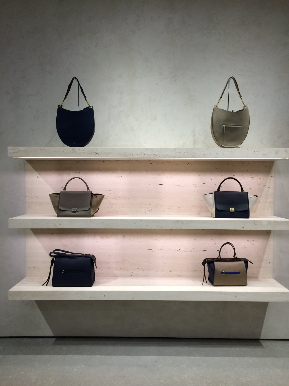 We nipped into Celine to warm up amongst beautiful things......