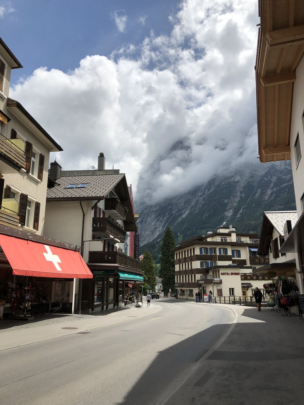 On our way out of Switzerland to Italy, we stopped in Grindelwald. We arrived right around lunch time, which meant a lot of stores were closed. I was a bit bummed since there were a few places I would have liked to have popped into. We wandered through town a bit then grabbed some snacks at a bakery before heading out to our next stop - Interlaken.