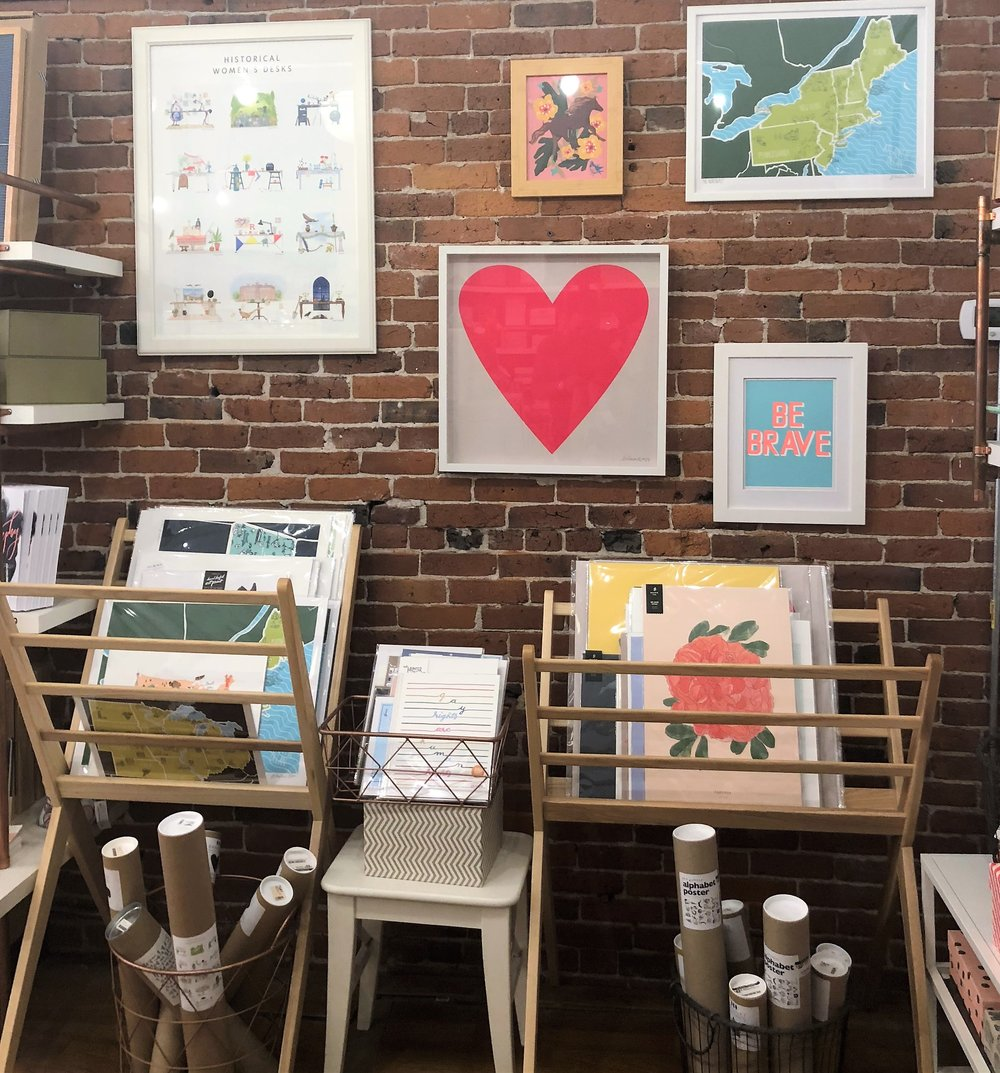 Gus & Ruby Letterpress  is one of the prettiest stores I've ever been in. Gorgeous prints cover their walls, colorful stationary scattered throughout and beautiful home goods line the tables. I couldn't leave the store without grabbing a few little goodies for myself :)
