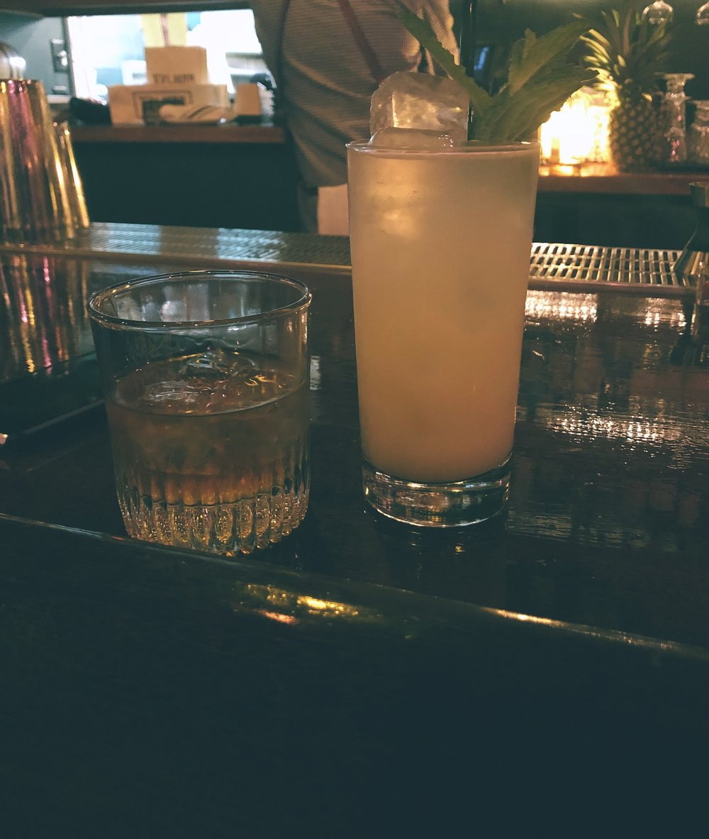 We ended with a nightcap at  The Wilder.  They had a short list of mocktails so I was able to partake! It was a pretty cool space and the perfect spot for one last drink.
