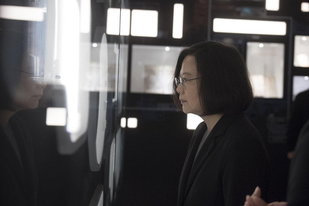總統蔡英文認為民進黨若在台北市長選舉推出自己人選,恐怕會掉入第三名。圖片來源:中華民國總統府/Flickr