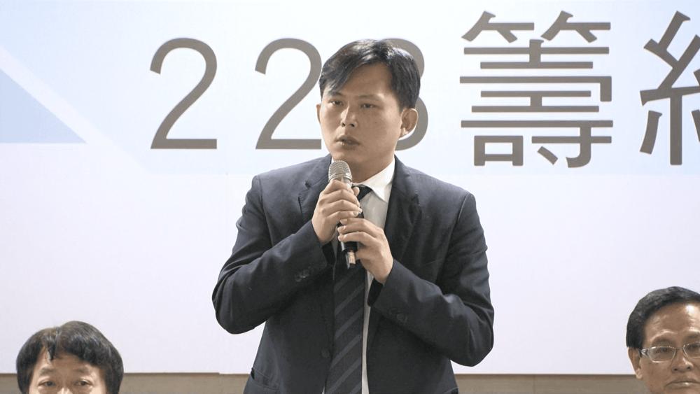 時代力量主席黃國昌現身力挺2019獨立公投。圖片提供:民視新聞