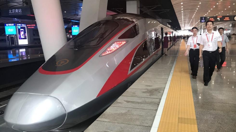 中國宣稱高鐵是中國的「新四大發明」之一。圖片來源:新華通訊社
