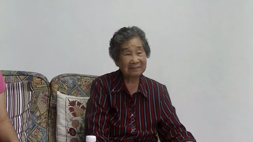 張七郎的三媳張玉彈,2015年接受採訪。圖片提供:台灣大地文教基金會