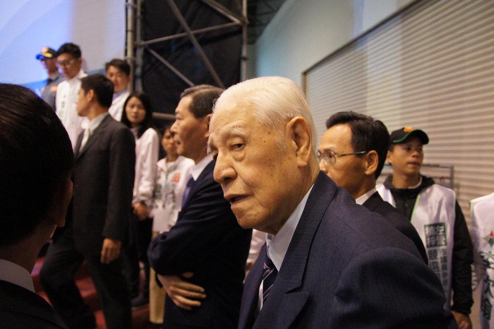 前總統李登輝昨出席力挺喜樂島聯盟成立大會。圖片提供:基進黨