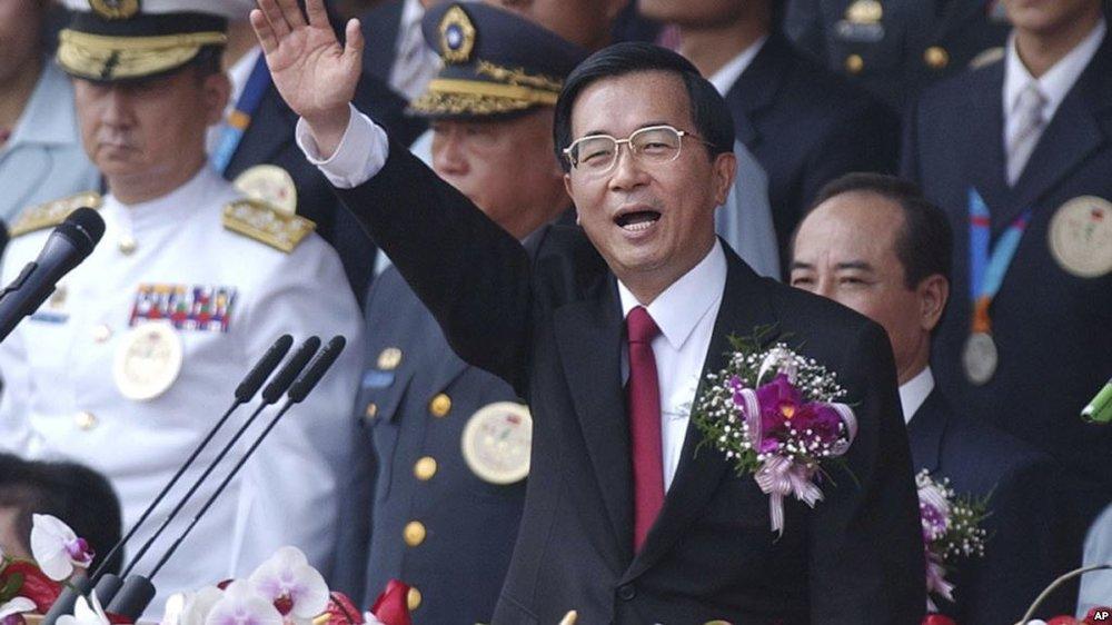 前總統陳水扁批柯文哲「白目」。圖片來源:Associated Press