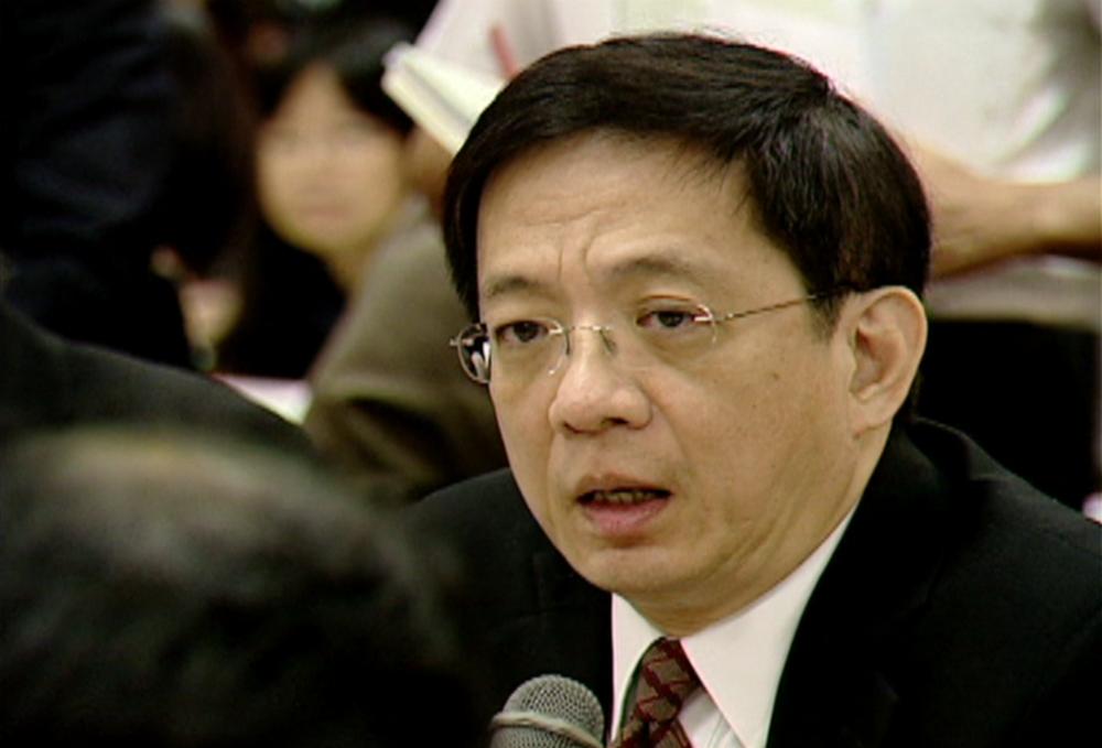 馬政府時期國發會主委管中閔,日前被遴選為台大新任校長,引發爭議。圖片提供:民視新聞