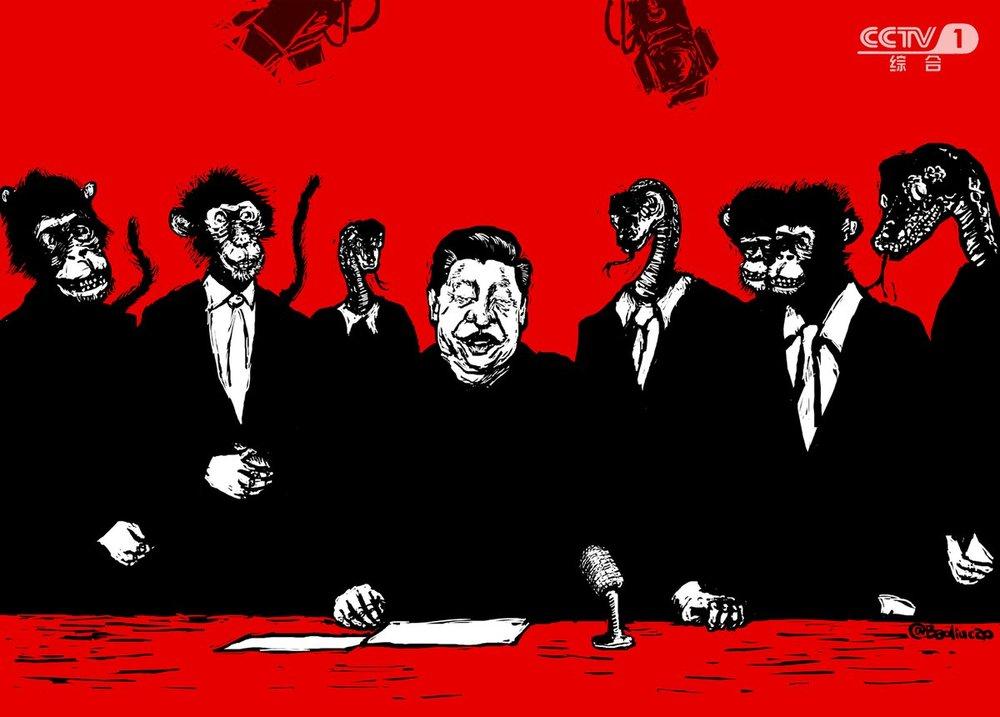 習近平日前造訪官媒體央視時,央視提出「央視姓黨」的口號,引發熱議。圖片來源:中國數字時代