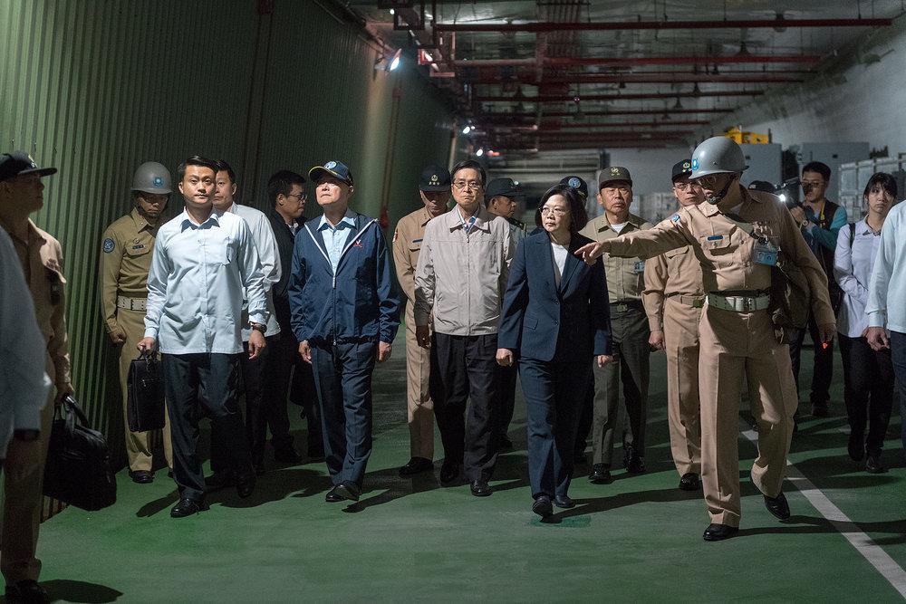 總統蔡英文在視察完海軍後,將赴非洲友邦出訪。圖片來源:中華民國總統府/Flickr