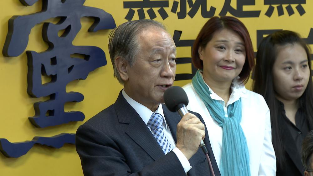 新黨主席郁慕明日前告發賴清德「叛國」,高檢署最終不起訴,全案簽結。圖片提供:民視新聞