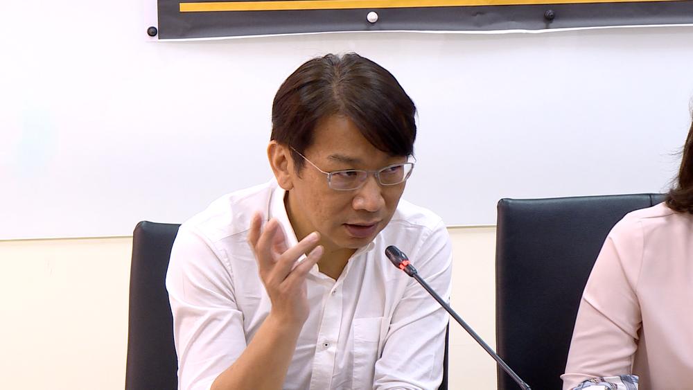 時代力量黨團總召徐永明砲轟促轉會僅有3名被提名的委員回答問卷。圖片提供:民視新聞