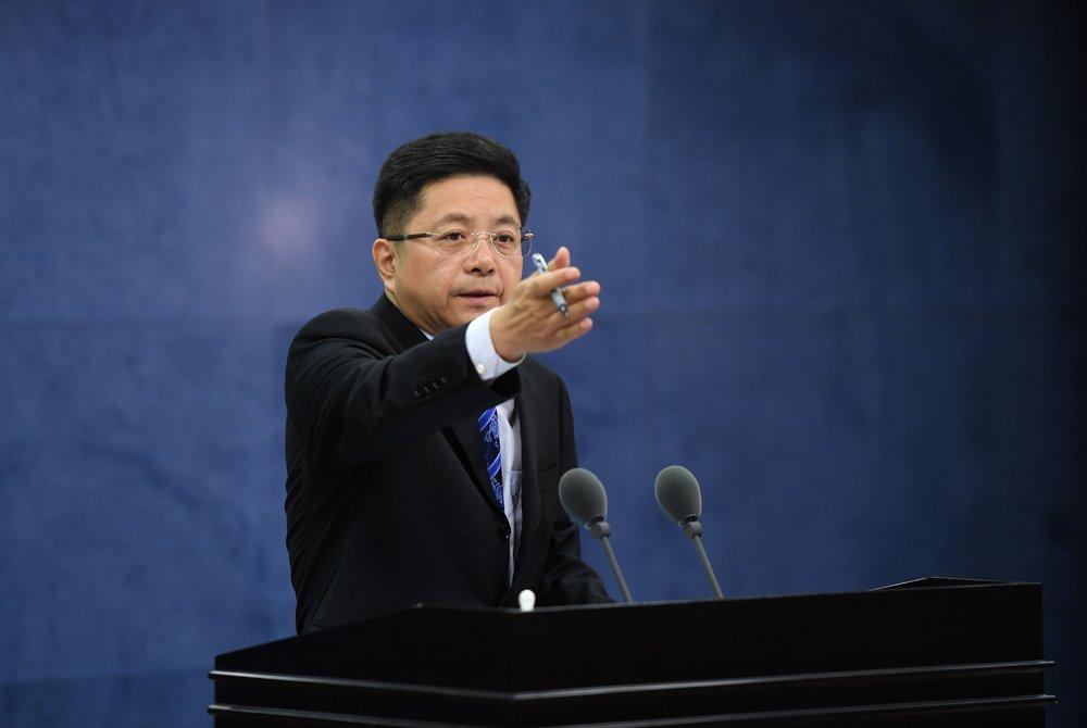 中國國台辦發言人馬曉光持續恫嚇台灣。圖片來源:新華通訊社