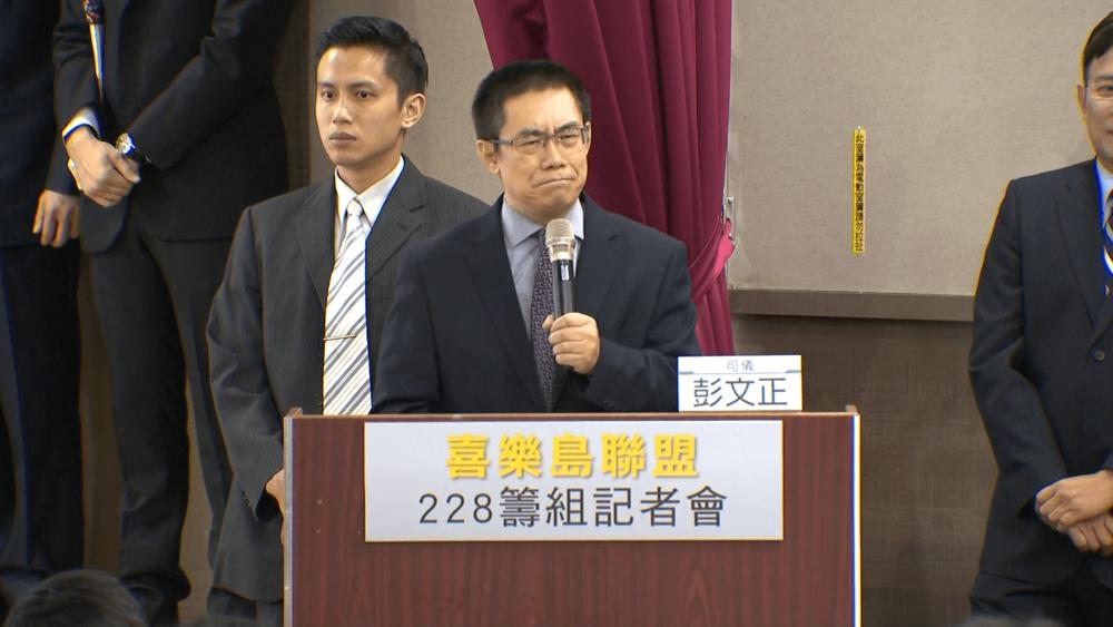 中國異議作家曹長青現身力挺2019獨立公投。圖片提供:民視新聞