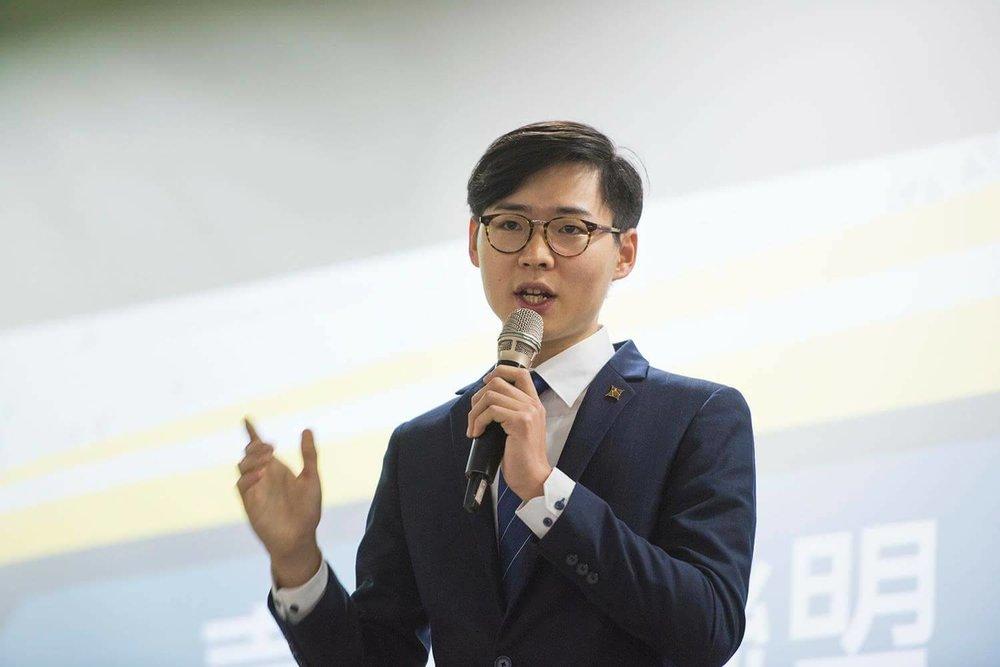 青年代表顏銘偉力挺2019獨立公投。圖片提供:基進黨