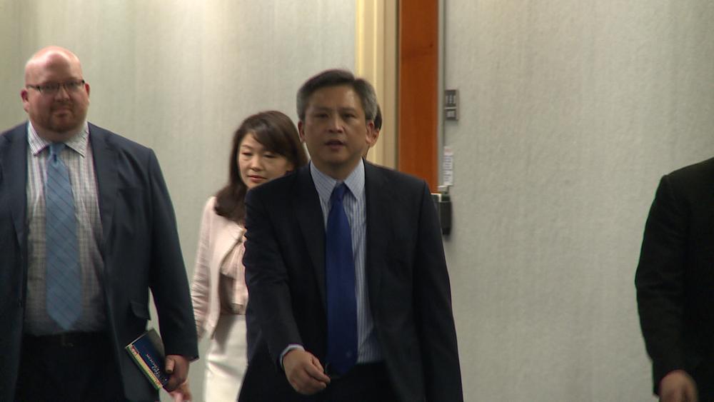美國在台協會處長梅健華代表美方力挺台灣加入世界衛生大會。圖片提供:民視新聞