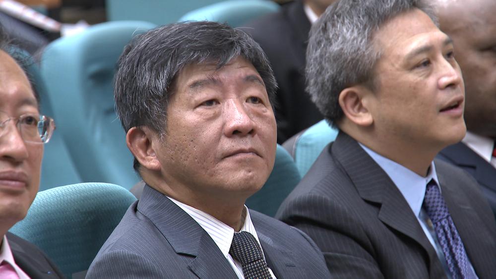 衛福部長陳時中呼籲國際支持台灣參與世界衛生大會。圖片提供:民視新聞