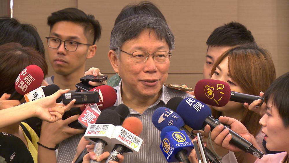 台北市長柯文哲遭爆選前砸錢討好老人。圖片提供:民視新聞