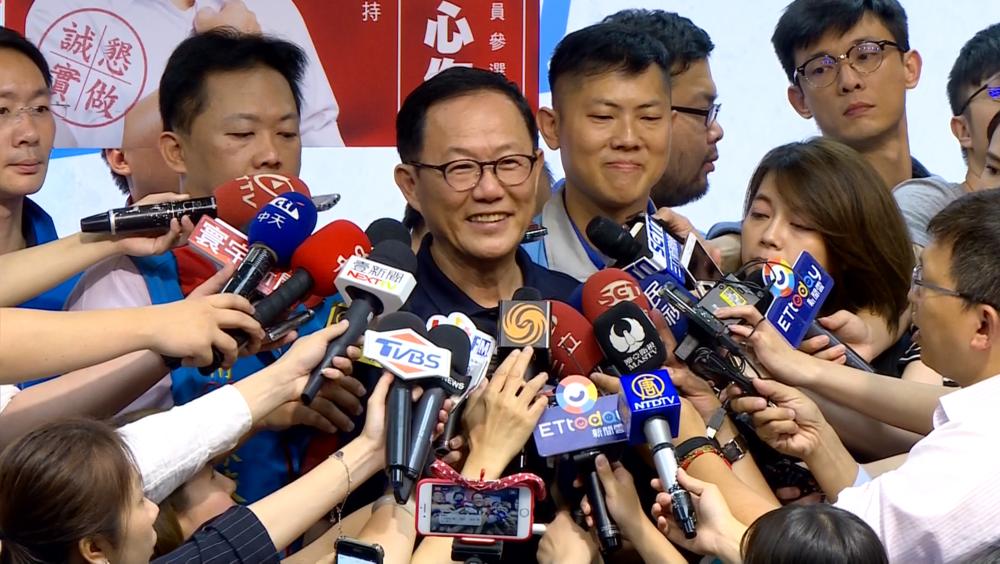 前立委丁守中正式代表國民黨參選台北市長。圖片提供:民視新聞