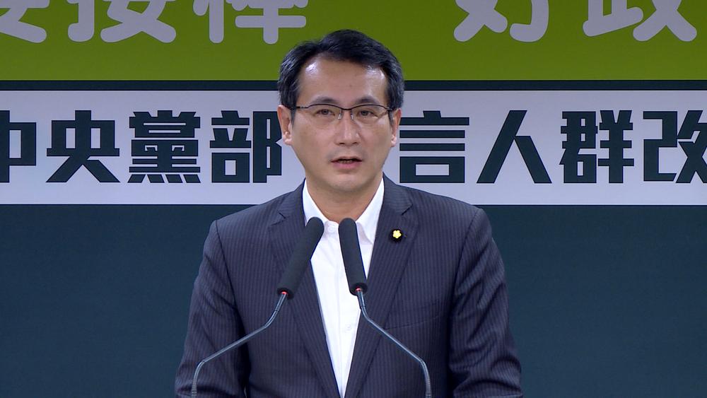 民進黨發言人鄭運鵬表示,選對會將在2週內確定北市選戰方針。圖片提供:民視新聞