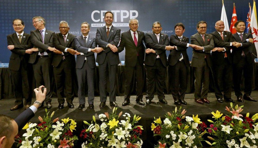 川普接受CNBC專訪時表示,若美國談判代表,能達成更優渥條件,美國不排除重新加入TPP。圖片來源:Associated Press