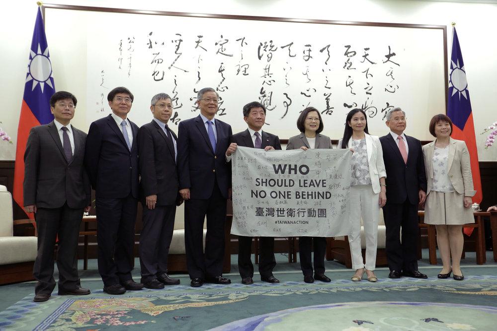 去年(2017年)由衛福部長陳時中領軍「台灣世衛行動團」到瑞士,替台灣發聲。圖片來源:中華民國總統府/Flickr