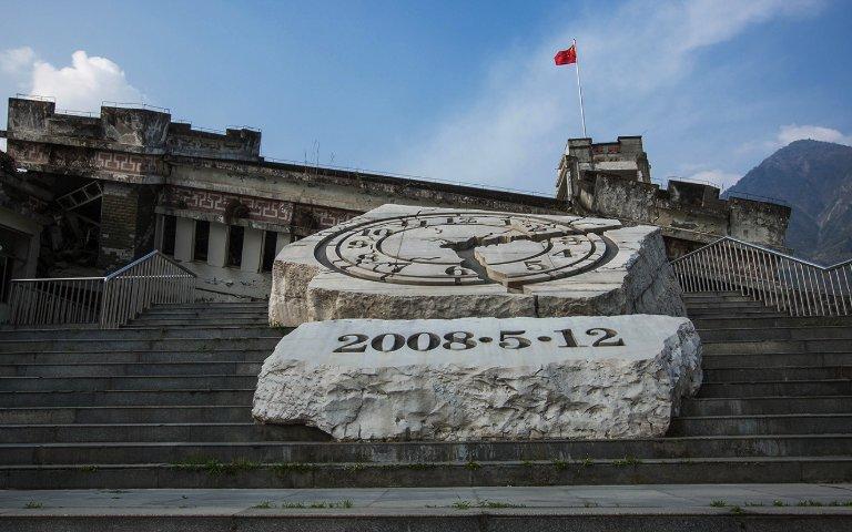 2008年汶川大地震造成嚴重死傷,主要是因為中國的「豆腐渣工程」。圖片來源:政事小哥/Twitter