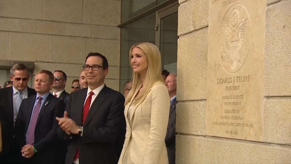美國總統川普女兒伊凡卡出席駐以色列大使館揭幕儀式。圖片來源:CNN