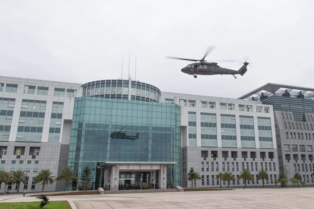 國防部面對中國軍機不斷繞台,不敢大意。圖片來源:中華民國國防部