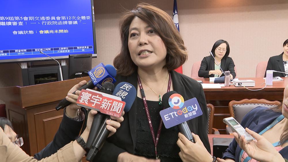 NCC主委詹婷怡被追問「TBC下架民視新聞」,頻頻搬出「已經處理中」的制式回應。圖片提供:民視新聞