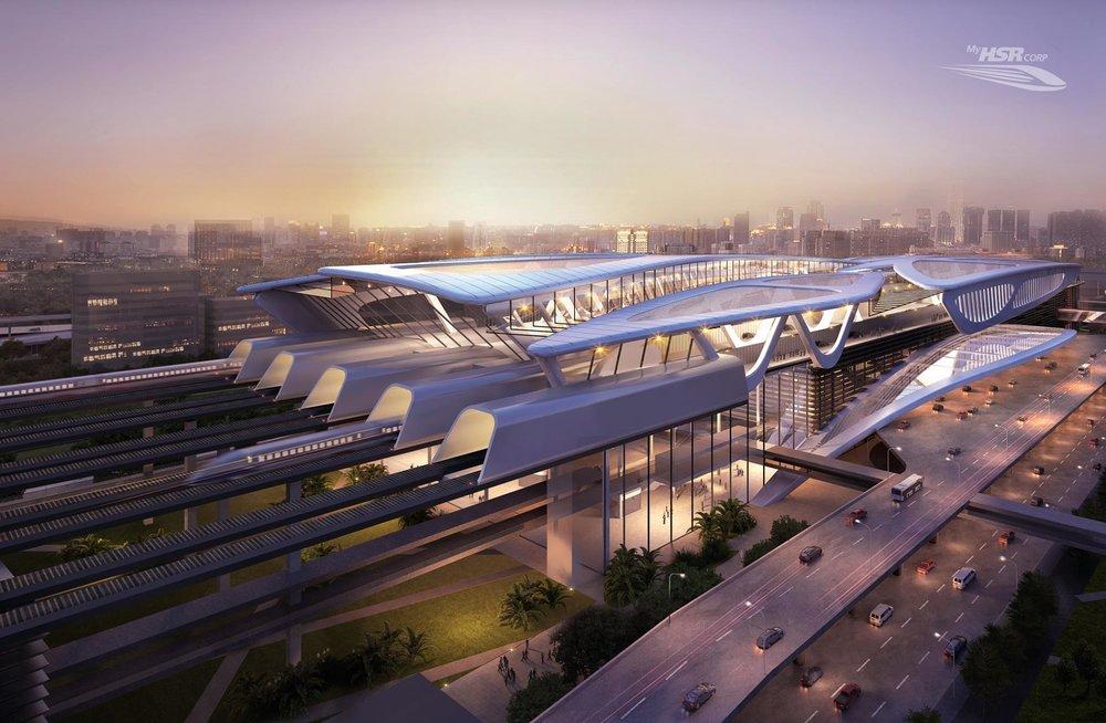 一帶一路計畫中的馬新高鐵,恐無法興建玩成。圖片來源:MyHSR