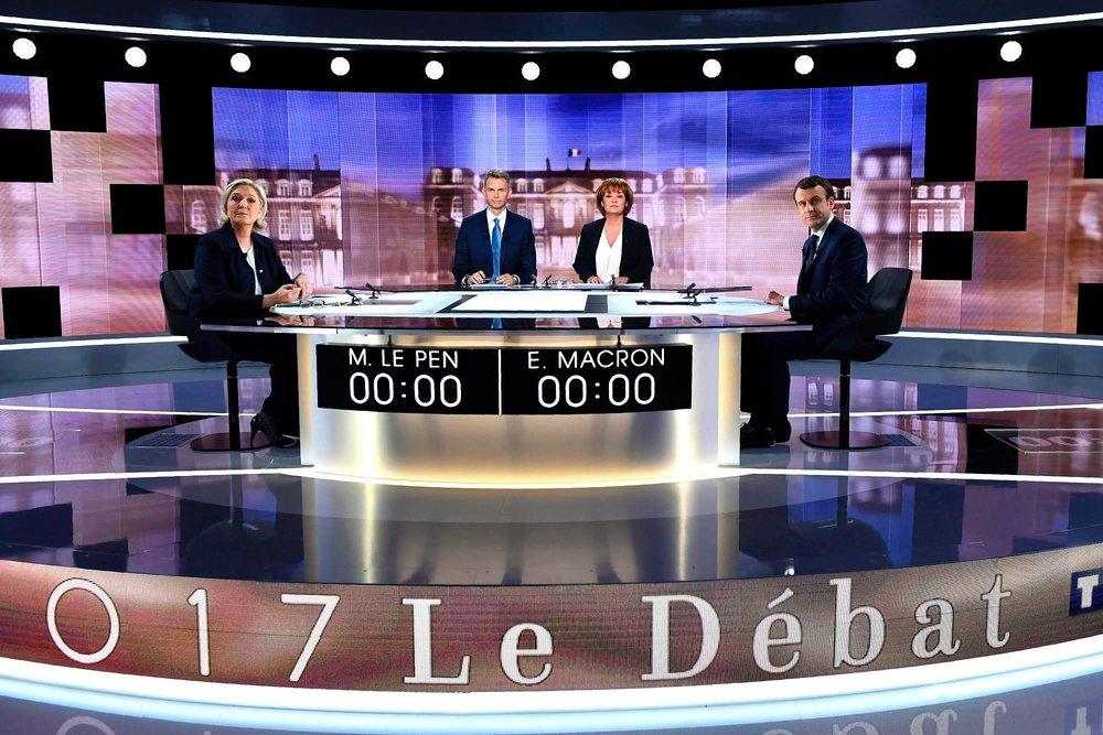 在法國,每位候選人的電視與廣播報導秒數必須平均,甚至還會派人監測。圖片來源:中國環球電視網