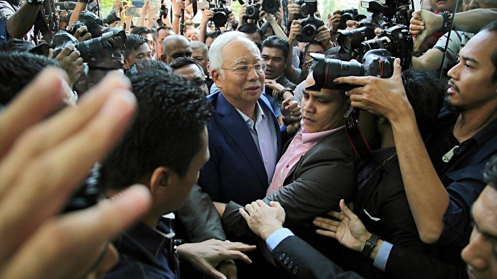 馬來西亞前總理納吉遭控貪腐與中國有關。圖片來源:中國環球電視網