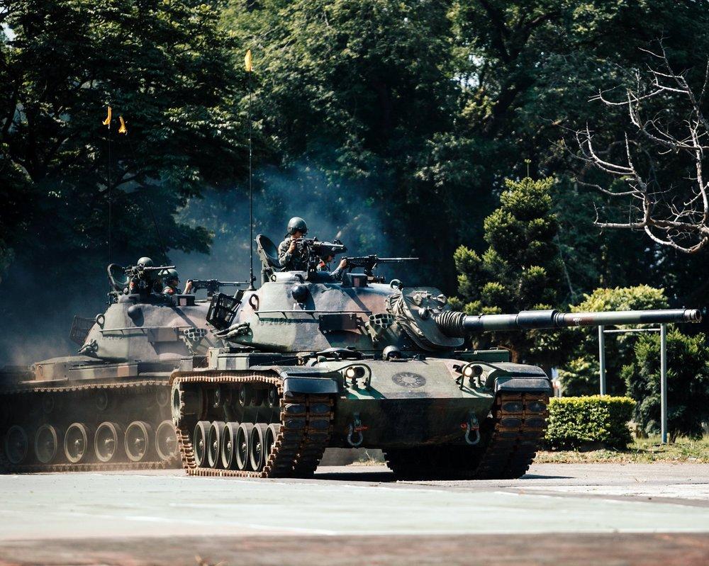漢光演習是 台灣以全國性防衛作戰的軍事演習,假想敵為中國人民解放軍。攝:陳軍均/軍聞社