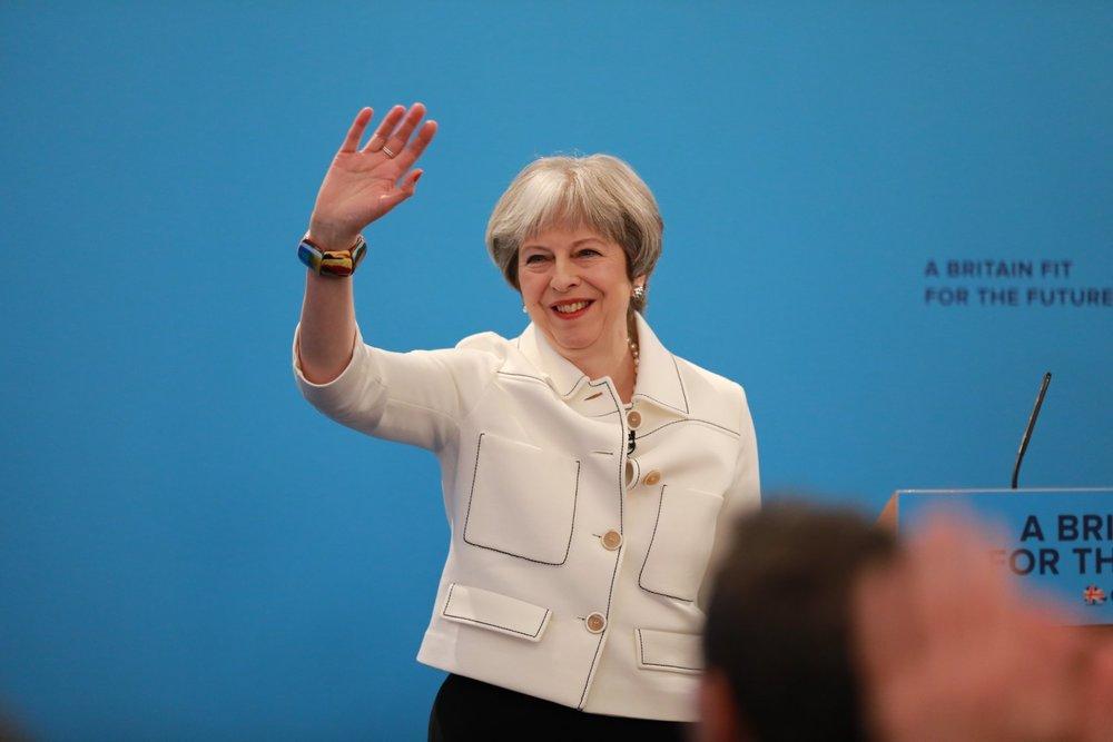 英國首相梅伊反對川普「懲罰性舉措」的政策。圖片來源:Theresa May/Facebook