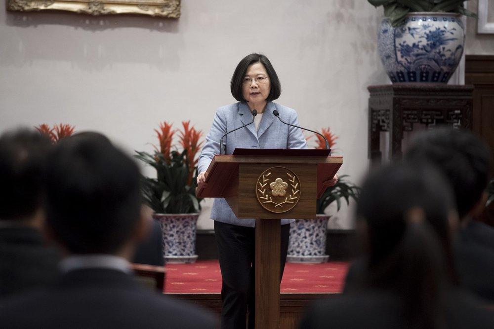 蔡英文近期為總統府秘書長官邸進行整修,還傳出親自到場「監工」。圖片來源:中華民國總統府