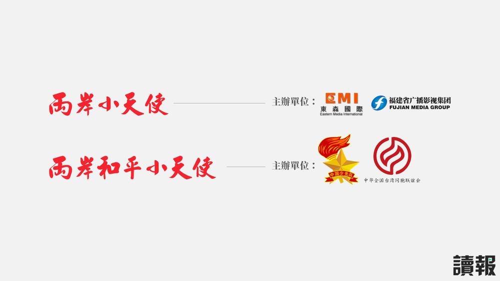 舉辦兩岸小學生「一家親交流」活動的不只中共的中國少年先鋒隊,還包括台灣的「東森國際」。製圖:美術組