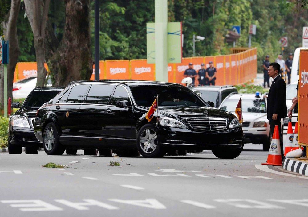 北韓領導人金正恩專屬防彈賓士車。圖片來源:Reuters