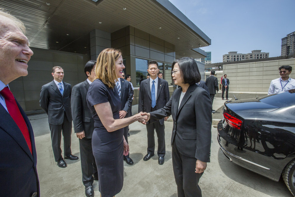 總統蔡英文與美國國務院助卿羅絲會面。圖片來源:中華民國總統府/Flickr