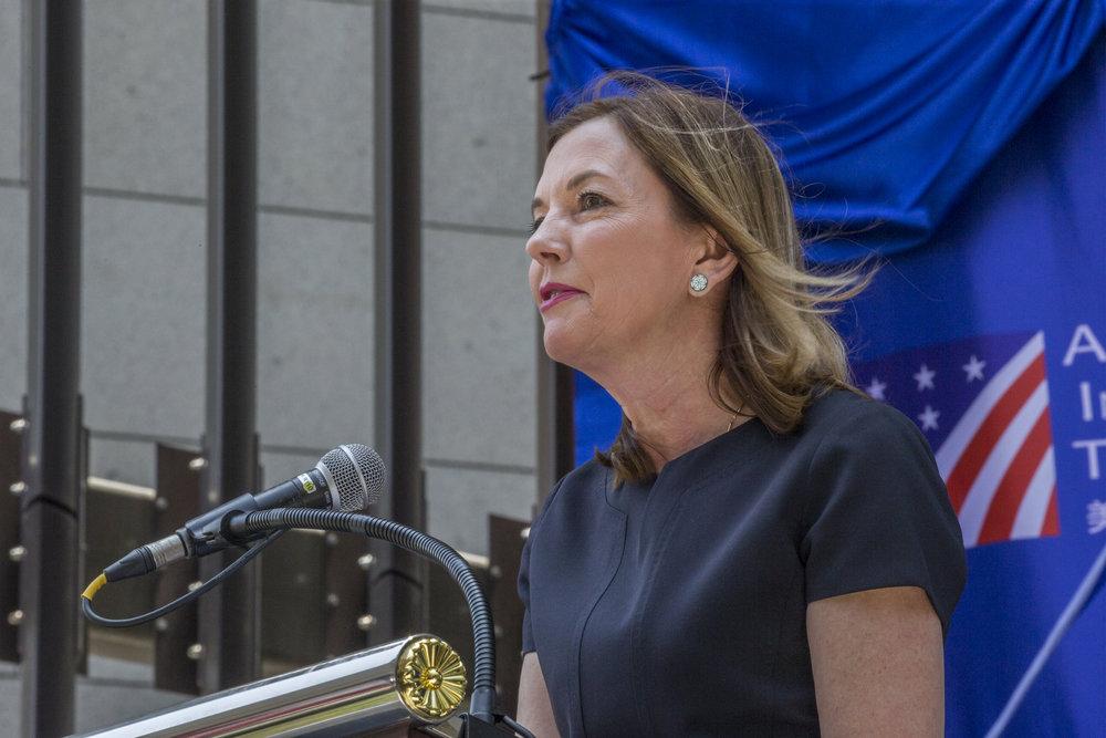 美國助理國務卿羅絲來台參與AIT新館落成典禮。圖片來源:中華民國總統府/Flickr