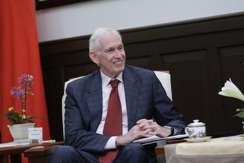 莫健表示,AIT新館落成,代表台美關係重大進展。圖片來源:中華民國總統府/Flickr
