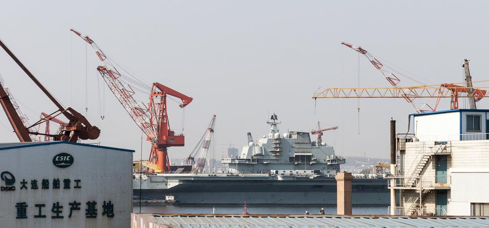 中國改製烏克蘭瓦良格號航母的遼寧艦,傳出貪瀆弊案。圖片來源:維基共享資源