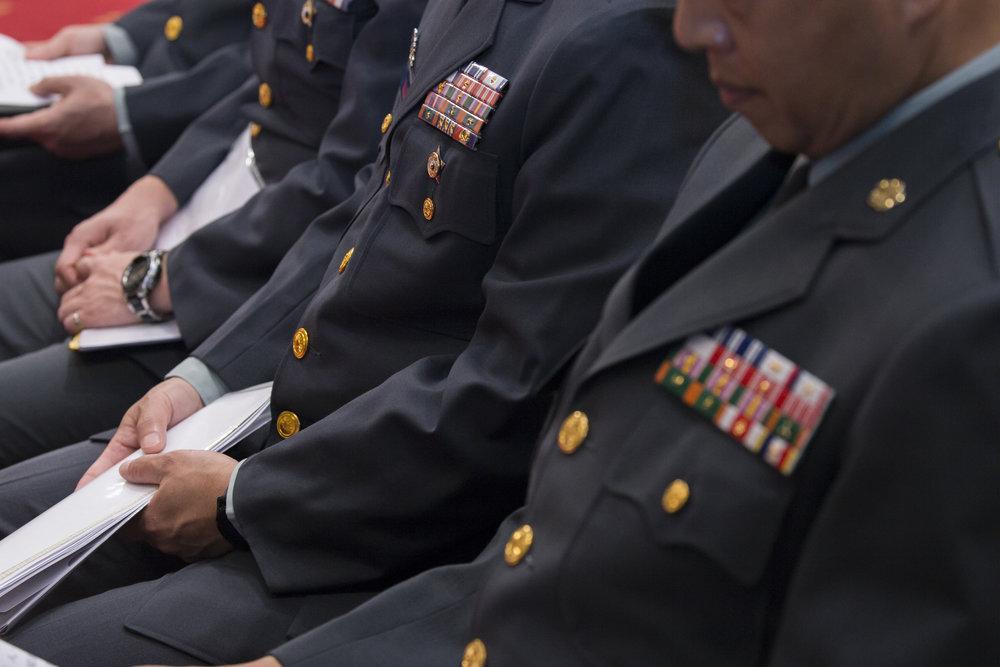 軍人年改確定樓地板是38990元。圖片來源:中華民國總統府/Flickr