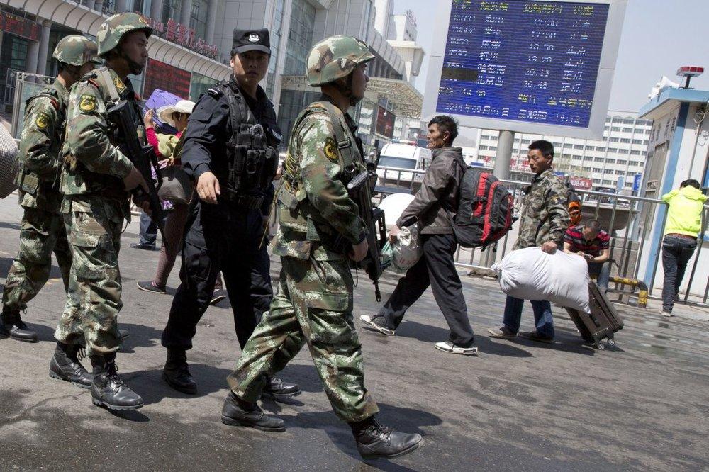 中國近年頻頻逮捕新疆異議人士。圖片來源:Associated Press